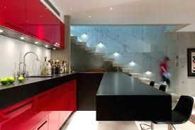 Black Lacquer Kitchen Cabinets Design High Gloss Lacquer Kitchen Cabinets Red Color Modern