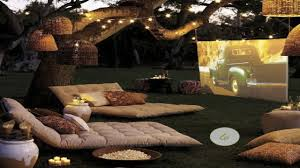 outdoor halloween party ideas backyard theater image on appealing backyard home theater speakers