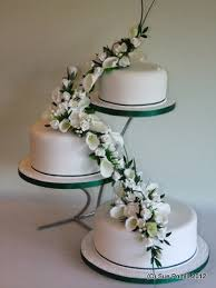 3 tier cake on separate stands wedding cakes pinterest