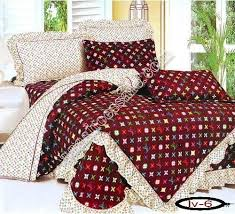 replica louis vuitton bedding sets brown