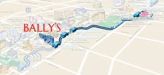 Map Of Las Vegas Strip Showing Hotels by Bally U0027s