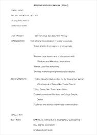 resume formats exles functional resume format exles