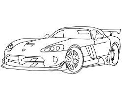 race car coloring pages dodge viper coloringstar