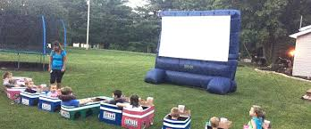 How To Make A Backyard Movie Theater Ohio Aunt Creates Elaborate Backyard U0027drive In U0027 Theater For The