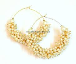 hoops earrings india pearl ring hoop earrings south india jewels