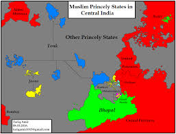 India States Map Pakistan Geotagging Muslim Princely States Of India