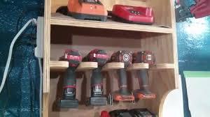 Charging Shelf My Version Of Jay Bates U0027 Drill Charging Station Youtube