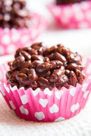 no bake healthy dark chocolate rice crispy cakes