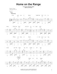 home on the range sheet music by roy rogers banjo u2013 177960