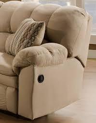 microfiber reclining sofa u0026 loveseat w pillow arms