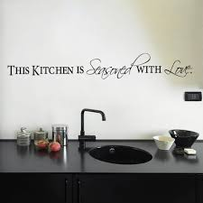 popular season decorations buy cheap season decorations lots from this kitchen is seasoned with love quotes wall stickers for restaurant home decoration removable decals art