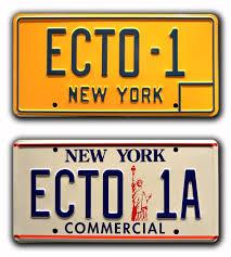 ny vanity plates amazon com ghostbusters 1 u0026 2 ecto 1 ecto 1a metal stamped