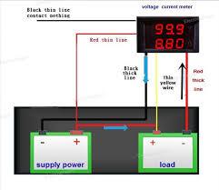 digital ammeter voltmeter dc0 100v 10a netram technologies