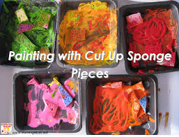 sponge painting learning 4 kids
