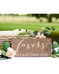 rustic bridal shower hot sale wedding favor sign rustic wedding favors bridal shower