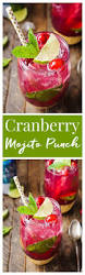 cranberry mojito punch recipe christmas cocktails cocktail