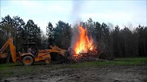 case 580k backhoe pushing up the fire youtube