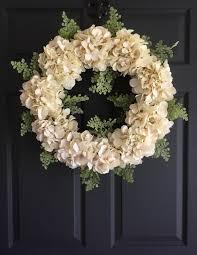 Wreath For Front Door Hydrangea Wreaths For Front Door Home Interior Design