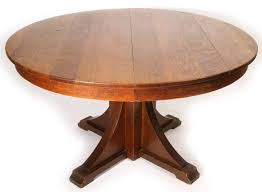 table entrancing stickley craftsman round pedestal dining table