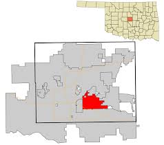 Oklahoma City Zip Code Map by Midwest City Oklahoma Wikipedia