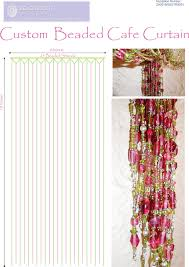 Pink Hanging Door Beads by Bead Curtain Gallary