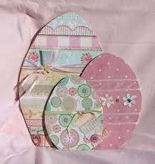 Pinterest Wooden Easter Decorations by Diy Large Easter Eggs Woodcraft Pattern Set Would Be Cute With
