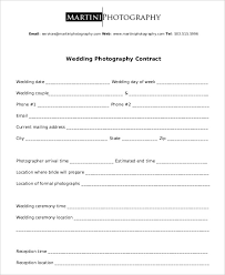 19 photography contract template pdf wedding contract template