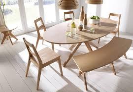 LPD Furniture Malmo Oak Dining Collection Scandinavian Styling - Scandinavian kitchen table