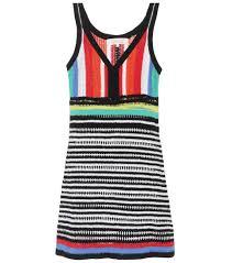 mixed striped knitted dress diane von furstenberg mytheresa com