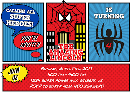 spiderman party invites free printable spiderman invitation card