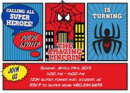 free printable spiderman invitation card
