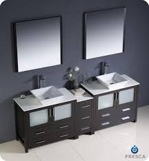 Double Vessel Sink Bathroom Vanities by Fresca Torino 84