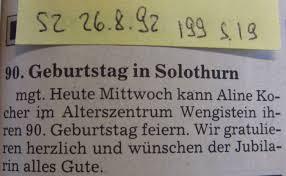 G Stige K Hen Alterszentrum Wengistein Solothurn Schweiz Pressearchiv