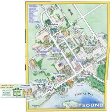 Washington Ferry Map Map Of Eastsound Village Eastsound Landmark Inn Orcas Island