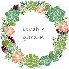 succulent spring wreath stock vector art 471793107 istock