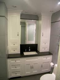 wonderful bathroom vanity and linen cabinet with matching cabinets