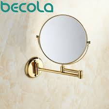 extending bathroom mirrors aliexpress com buy becola double side bathroom folding brass