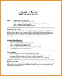 professional summary resume resume examples of professional