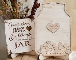 wedding guest sign in book wedding guest book rustic wedding initials wooden wedding