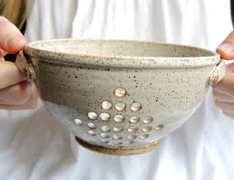 bowl designs ceramic colander pottery berry bowl by thimbleberrypottery bowls