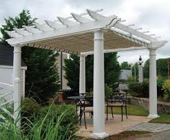 White Vinyl Pergola by Walpole Extruded Vinyl Shade Pergola Kit Wood Pergolas Solid