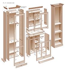 Free Woodworking Plans For Corner Cabinets by Pantry Cabinet How To Build Pantry Cabinets With Top Nice Photos