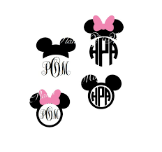 minnie mouse monogram mickey mouse svg file mickey mouse monogram minnie mouse eps