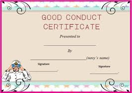 good conduct certificate template 22 word templates for