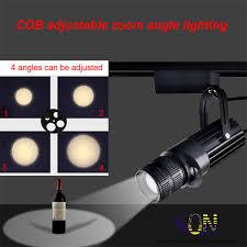 ondenn high quality led track rail spotlight 10w 20w cree cob zoom