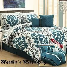 Black Comforter King Size Bedroom Black Turquoise Teal Blue Comforter Set Elegant Damask