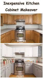 kitchen cabinet makeover ideas diy inexpensive kitchen cabinet makeover