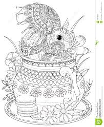 adorable squirrel coloring page stock illustration image