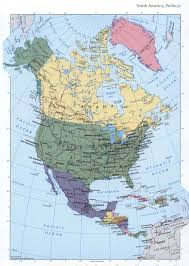 North America Continent Map by North America Political Mapfree Maps Of North America
