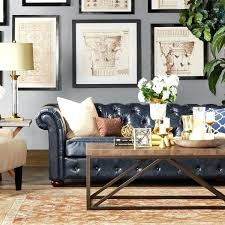 Navy Blue Leather Sofa Blue Leather Modern Blue Leather Sectional Sofa